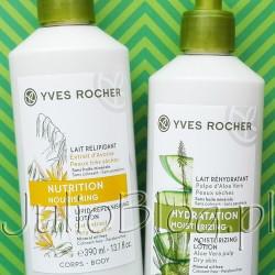 Intensywnie nawilżające mleczko do ciała z wyciągiem z owsa Yves Rocher, 390ml w cenie 38,90zł oraz Intensywnie nawilżające mleczko do ciała z aloesem Yves Rocher, 390ml w cenie 35,90zł. Intensywnie nawilżające mleczko do ciała z wyciągiem z owsa Yves Rocher, 390ml, 38,90zł To produkt dla bardzo suchej skóry, której brakuje odżywienia i komfortu. Mleczko wzbogacone zostało w wyciąg z owsa, aby bardzo sucha skóra była miękka i odżywiona. Opakowanie o dużej pojemności (aż 390 ml) pozwoli dłużej cieszyć się doskonałym działanie kosmetyku. Działanie: Mleczko natychmiastowo odżywia i zmiękcza bardzo suchą skórę, która natychmiast odzyskuje komfort. Konsystencja aksamitnego mleczka pozostawia skórę jedwabistą. Składniki: W składzie kosmetyku znajduje się owies z ekologicznych upraw. Formuła zawiera ponad 94% składników pochodzenia naturalnego. Bez olejów mineralnych, bez parabenów. Formuła testowana dermatologicznie. Sposób użycia: Stosuj codziennie na całe ciało. Intensywnie nawilżające mleczko do ciała z aloesem Yves Rocher, 390ml w cenie 35,90zł Produkt dla osób poszukujących kosmetyku do skóry suchej, odwodnionej i szorstkiej w dotyku. Natychmiastowe działanie sprawia, że rezultaty widoczne są od razu, a skóra powraca do równowagi. Opakowanie o dużej pojemności (aż 390 ml) pozwoli dłużej cieszyć się doskonałym działanie kosmetyku. Działanie: Intensywne nawilżenie, sucha skóra odzyskuje elastyczność. Konsystencja lekkiego, dobrze wchłaniającego się mleczka pozostawia na skórze aksamitne wykończenie. Składniki: W składzie Intensywnie nawilżającego mleczka do ciała z aloesem Yves Rocher znajduje się aloes znany ze swoich zdolności do ochrony oraz poprawy nawilżenia skóry. Formuła zawiera ponad 96% składników pochodzenia naturalnego. Bez olejów mineralnych, bez parabenów. Formuła testowana dermatologicznie. Intensywnie nawilżające mleczko do ciała z wyciągiem z owsa Yves Rocher, 390ml w cenie 38,90zł oraz Intensywnie nawilżające mleczko do ciała z aloesem Yves Rocher, 390