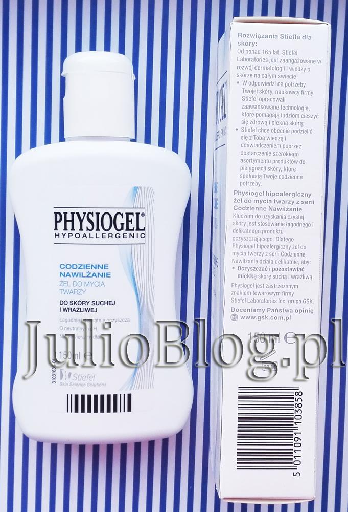 JulioBlog.pl-blog-Julii-Żel-do-mycia-twarzy-PHYSIOGEL-Codzienne-Nawilżanie-Stiefel-Skin-Science-Solutions-informacje-obietnice-producenta-recenzja-ocena-opinia-opinie-blog