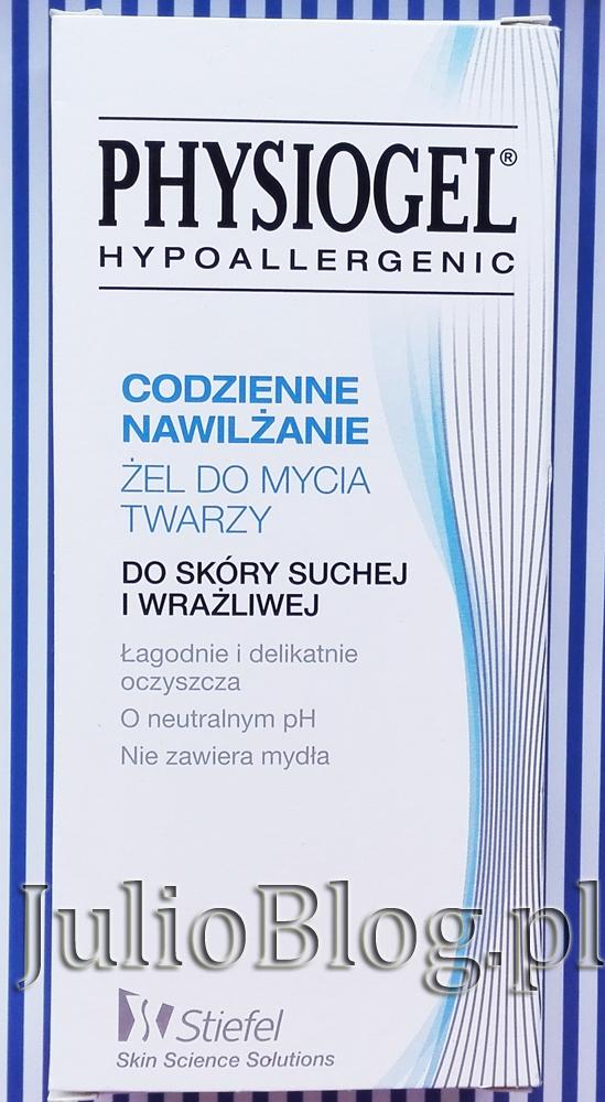 julioblog.pl-blog-julii-recenzje-kosmetyków-do-skóry-wrażliwej-dla-suchej-cery-Żel-do-mycia-twarzy-PHYSIOGEL-Codzienne-Nawilżanie-Stiefel-Skin-Science-Solutions-nowa-szata-graficzna