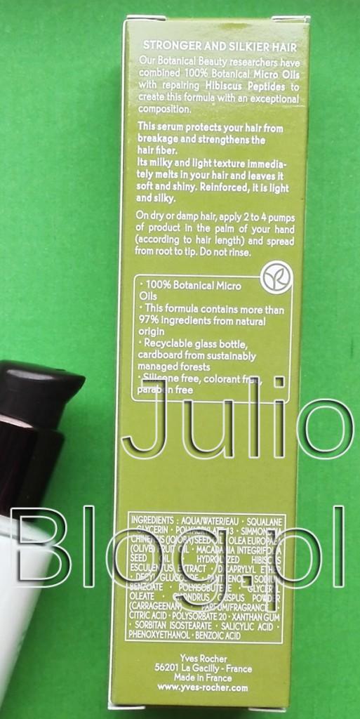 Wzmacniające-serum-do-włosów-Roślinna-pielęgnacja-włosów-Yves-Rocher-30ml-27,90zł-julioblog.pl-blog-Julii-skład-składniki-INCI-ingredients-działanie-sposób-użycia-czy-warto