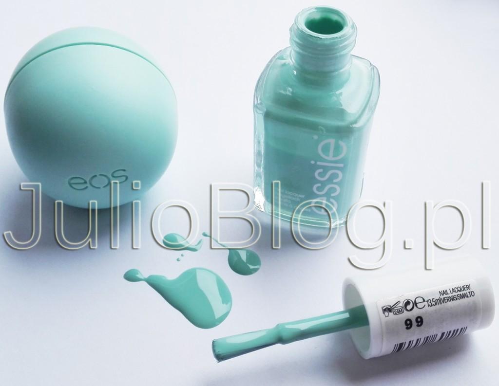 julioblog.pl-blog-Julii-balsam-do-ust-EOS-Sweet-Mint-miętowy-eos-kulka-USDA-organic-jojoba-masło-shea-witamina-E-lakier-do-paznokci-Essie-Mint-Candy-Apple-ESSIE-99-odcień-kolor