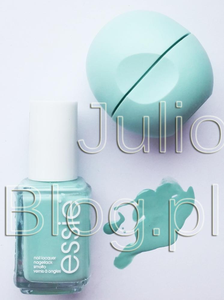 julioblog.pl-blog-Julii-balsam-do-ust-EOS-Sweet-Mint-miętowy-eos-kulka-USDA-organic-jojoba-masło-shea-witamina-E--lakier-do-paznokci-Essie-Mint-Candy-Apple-ESSIE-99-szeroki-pędzelek