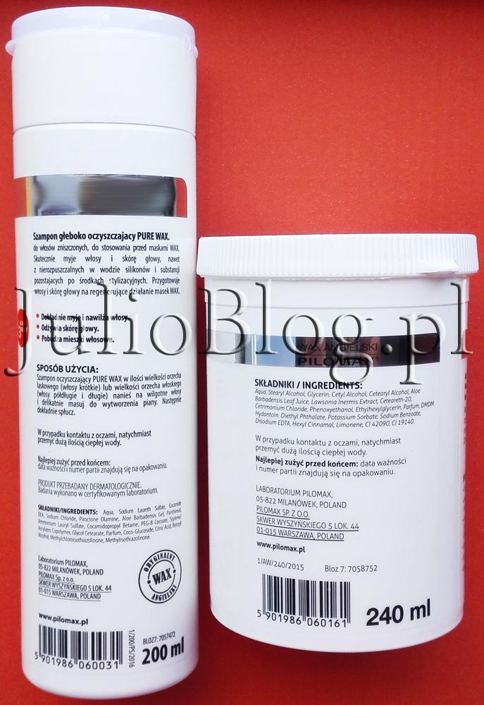WAX-angielski-PILOMAX-julioblog.pl-blog-julii-recenzja-opinie-recenzja-kosmetyków-aloes-aloesowy-z-aloesem-zniszczone-włosy-głęboko-oczyszczający-szampon-maseczka-regenerująca