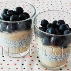 """DIETA Mój przepis na kokosowo-bananowy pudding chia. www.julioblog.pl blog Julii. Mój przepis na kokosowo-bananowy pudding chia Julia 21 czerwca 2016DIETA, Fit gotowanie, Julia gotuje, Przekąski Od pewnego czasu miałam ochotę spróbować nasion chia. Zwłaszcza, że na Instagramie widziałam sporo zdjęć apetycznie wyglądających puddingów! Okazuje się, że przyrządzenie efektownego puddingu chia jest na szczęście proste :) Jeśli chcecie się przekonać – zapraszam! Składniki na 2 porcje kokosowo – bananowego puddingu chia. Kokosowo – bananowy pudding chia – przygotowanie. Jak przyrządzić nasiona chia, jak zrobić chiapudding. Przygotowanie chiapuddingu. Moczenie nasion chia w wodzie i mleku. Ile kosztują nasionka CHIA? Nasiona chia pochodzą z Ameryki Południowej, gdzie ze względu na mnogość substancji odżywczych nazywane były przez Azteków """"pokarmem Bogów"""". Chia zawierają witaminy, minerały, błonnik i białko, kwasy omega 3 i omega 6. Dlatego często określa się je mianem superfoods. Moje nasiona chia pochodzą ze sklepu e-condimenta.eu. Opakowanie 150g kosztuje 6,50zł. Ile mają kalorii nasiona chia? Jakie są składniki odżywcze w CHIA? Wartość odżywcza nasion chia (informacja ze strony e-condimenta dla tych konkretnych nasion): WARTOŚĆ ODŻYWCZA W 100G RWS(%)* Wartość energetyczna 1960kJ/469kcal 4 % Tłuszcz 33,0 g 7 % w tym nasycone kwasy tłuszczowe 10,0g 8 % Węglowodany 1 g"""