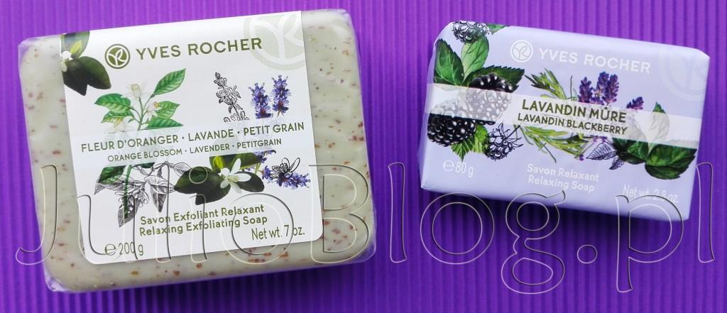 Relaksujące-mydło-peelingujące-Kwiat-Pomarańczy-Lawenda-Petit-Grain-Yves-Rocher-mydło-lawenda-jeżyna-Plaisir-Nature-relaksujące-mysła-opinie-julioblog.pl-blog-Julii-recenzja-