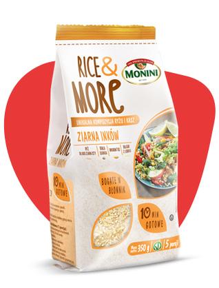Ziarna Inków Rice and MORE MONINI ryż quinoa amarantus bulguz z łubinu mieszanka 10 minut i gotowe