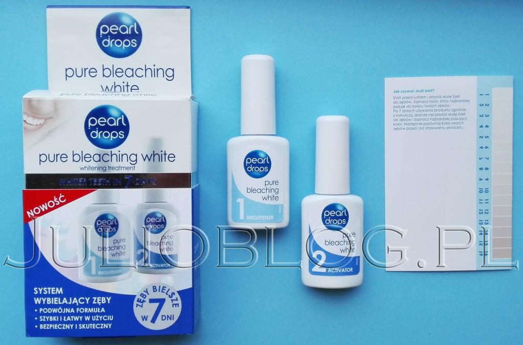 julioblog.pl-blog-Julii-wybielanie-zębów-w-domu-domowe-zestawy-sposoby-na-wybielenie-zębów-Pearl-Drops-zestaw-do-wybielania-Pure-Bleaching-White-skala-bieli-zębów-odcień-zębów