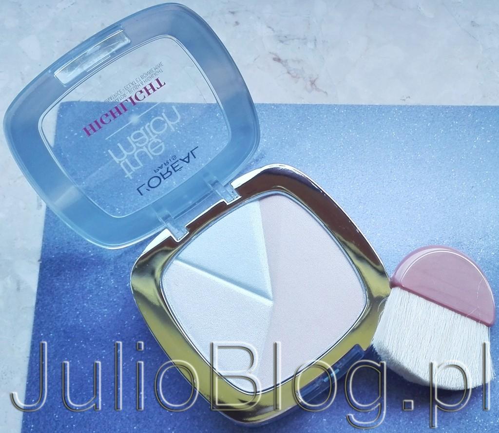 rozświetlacz-do-twarzy-puder-rozświetlający-nowość-Loreal-True-Match-Highlight-302-Icy-Glow-odcień-strobing-rozświetlenie-skóry-twarzy-JulioBlog.pl-blog-Julii-recenzje-kosmetyków-makijaż