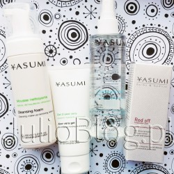 Kosmetyki do pielęgnacji skóry wrażliwej YASUMI: Pianka myjąca do codziennego oczyszczania i demakijażu każdego rodzaju cery Cleansing Foam YASUMI (150ml/39zł), Łagodzący żel aloesowy Aloe Vera Gel YASUMI (100ml/49zł), Tonik z kwasem laktobionowym Lactobionic Acid Toner YASUMI dermo & medical (59zł/200ml), oraz Serum redukujące zaczerwienienia YASUMI Red-Off Intensive Care dermo & medical (10ml/49zł). 4 kosmetyczne niezbędniki dla skóry wrażliwej – mój subiektywny wybór. Pianka myjąca do codziennego oczyszczania i demakijażu każdego rodzaju cery Cleansing Foam YASUMI (150ml/39zł). Pianka myjąca do codziennego oczyszczania i demakijażu każdego rodzaju cery Cleansing Foam YASUMI (150ml/39zł). Pianka do demakijażu - Cleansing Foam. Pianka myjąca do codziennego oczyszczania i demakijażu każdego rodzaju cery. Cleansing Foam - Pianka do oczyszczania skóry i demakijażu Kierunek działania: oczyszczenie skóry, usunięcie makijażu, odświeżenie skóry Przeznaczenie: demakijaż każdego rodzaju cery Pojemność: 150ml Właściwe i dokładne oczyszczenie skóry warunkuje prawidłową pielęgnację. Bez niego składniki aktywne z kremu, serum, ampułki nie zadziałają w sposób optymalny, a skóra stanie się poszarzała, zmęczona i utraci swój naturalny blask. Pianka do demakijażu i mycia skóry przeznaczona jest do każdego rodzaju cery. Dokładnie usuwa zanieczyszczenia, nie uszkadzając przy tym bariery ochronnej skóry oraz struktury naskórka. Zawarta w piance gliceryna nawilża, wygładza i chroni, a kwas mlekowy zmiękcza warstwę rogową naskórka, ułatwiając usuwanie zanieczyszczeń. Oczar wirginijski działa przeciwzapalnie, wspomaga odnowę i wzmacnia mechanizmy obronne skóry. Reguluje wydzielanie sebum oraz zwęża pory. Dodatek zielonej herbaty jako silny antyoksydant, łagodzi stany zapalne, działa tonizująco i przeciwrodnikowo. Po zastosowaniu YASUMI Celansing Foam skóra jest oczyszczona i odświeżona, a makijaż dokładnie usunięty. Efekty / korzyści: Usunięty makijaż Oczyszczona skóra Odświeżona skóra N