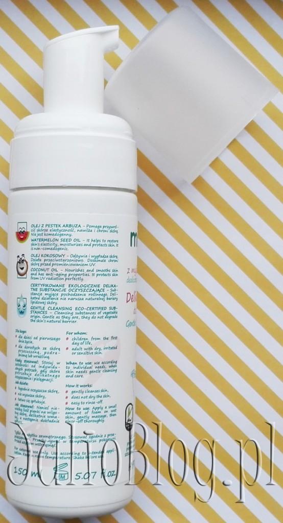 naturalne-kosmetyki-dla-niemowląt-naturalna-pianka-do-mycia-od-pierwszych-dni-życia-Mikkolo-Nova-Kosmetyki-skład-działanie-składniki-INCI-opinia-recenzja-JulioBlog.pl-blog-Julii-kosmetyki