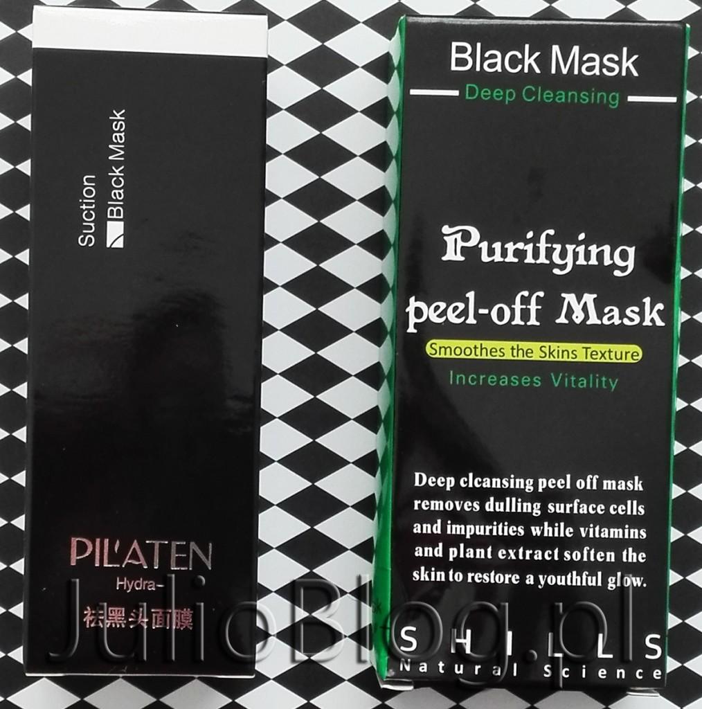 Hydra Black Mask z aktywnym węglem z bambusa Pilaten czarna maska Maseczka Black Mask Purifying Peel off Mask Shills czarne maski