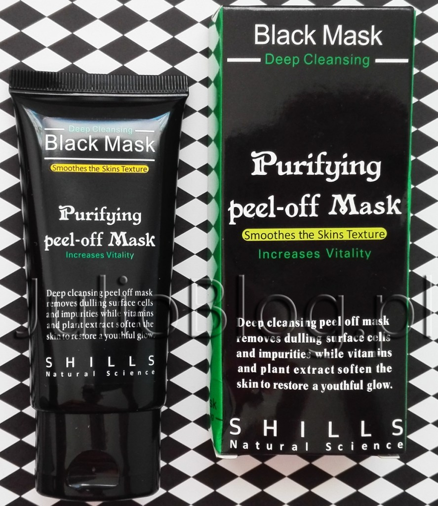Maseczka Black Mask Purifying Peel off Mask Shills JulioBlog.pl blog Julii czarna maska opinia ocena recenzja czy warto