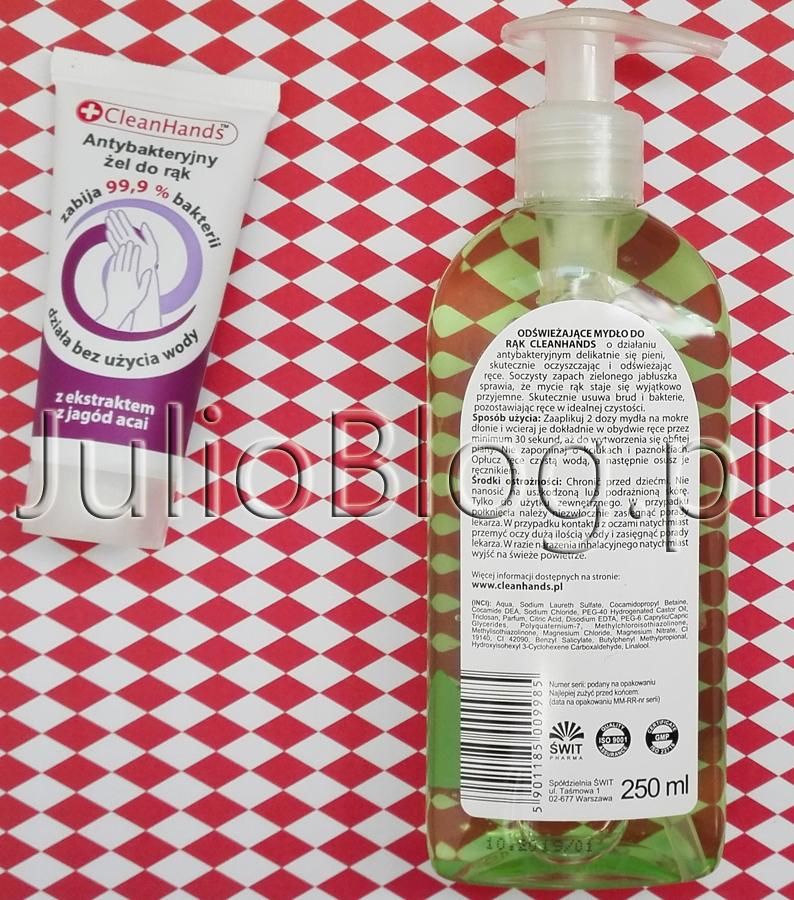 Antybakteryjny-żel-do-rąk-z-ekstraktem-z-jagód-acai-CleanHands-Antybakteryjne-mydło-w-płynie-do-rąk-zielone-jabłko,-odświeżające-CleanHands-Aqua-Sodium-Laureth-Sulfate-Cocamidopropyl-Betaine