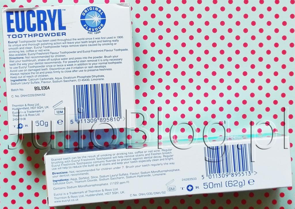 EUCRYL-TOOTHPOWDER-Eucryl-toothpaste-proszek-wybielający-zęby-pasta-wybielająca-puder-do-wybielania-zębów-składniki-skład-INCI-wybielanie-zębów-w-domu-domowe-wybielanie