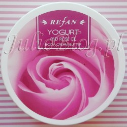 Różane-masło-do-ciała-z-Bułgarii-REFAN-Yougurt-Rose-Oil-Body-Cream-Butter-Refan-Rosa-Damascen--Essential-oil--woda-różana-Rosa-Damascena-Flower-Water-bez-parabenów-JulioBlog