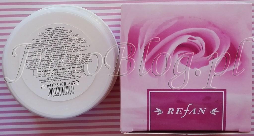 Różane-masło-do-ciała-z-Bułgarii-REFAN-Yougurt-Rose-Oil-Body-Cream-Butter-Refan-Rosa-Damascen--Essential-oil--woda-różana-Rosa-Damascena-Flower-Water-bez-parabenów-skład