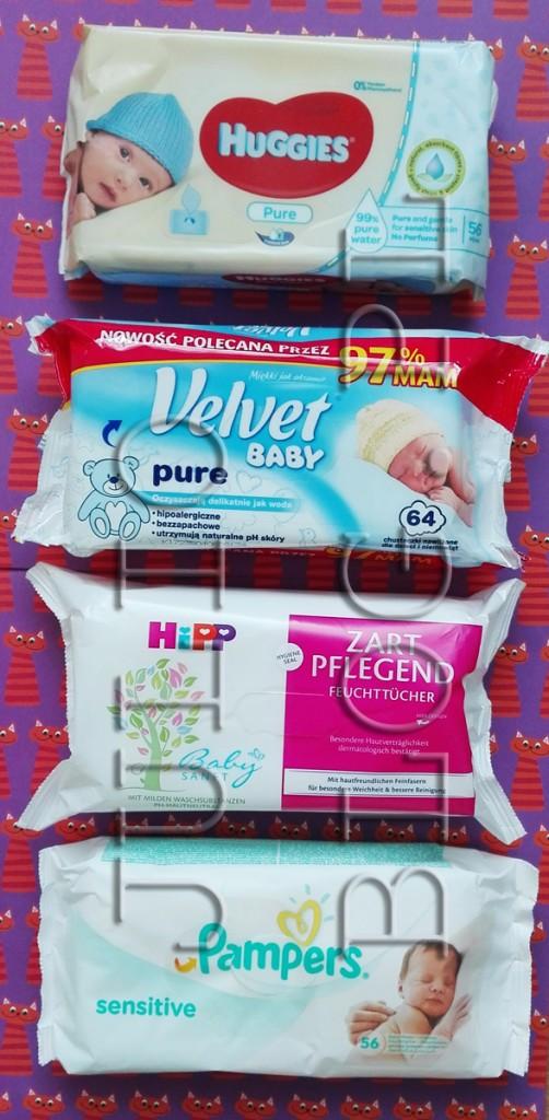 chusteczki-dla-dzieci-mokre-nawilżone-Papmpers-Sensitive-Velvet-Baby-Huggies-HIPP-zalt-pelegent-dla-niemowląt-opinie-oceny-recenzja-JulioBog.pl-blog-Julii-porównanie-składy-skład-opinia