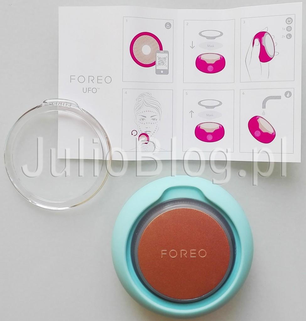 FOREO-UFO-sposób-użycia-zastosowanie-jak-działa-urządzenie-UFO-Foreo-domowa-pielęgnacja-światloterapia-terapia-światłem-LED-krioterapia-w-domu-domowe-zabiegi-zamiast-w-gabinecie