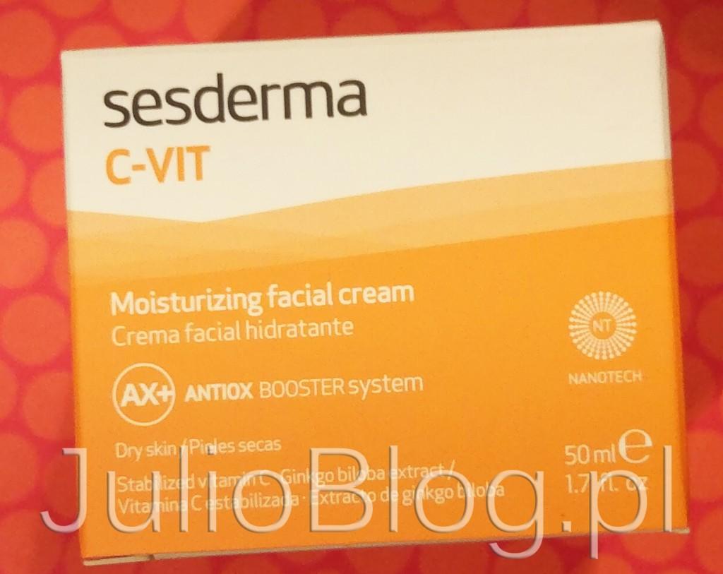 Nawilżający-krem-do-twarzy-SESDERMA-C-VIT-kwas-askorbinowy-witamina-C-do-twarzy-na-dzień-noc-czy-działa-recenzja-opinia-czy-warto-kupić-100zł-50ml-JulioBlog.pl-blog-Julii-pielęgnacja