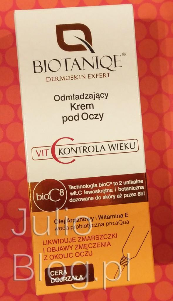 krem-pod-oczy-lewoskrętna-witamina-C-JulioBlog-blog-Julii-woda-probiotyczna-LACTOBACILLUS-Odmładzający-krem-pod-oczy-do-cery-dojrzałej-BIOTANIQE-C-AGE-CONTROL-arganowy