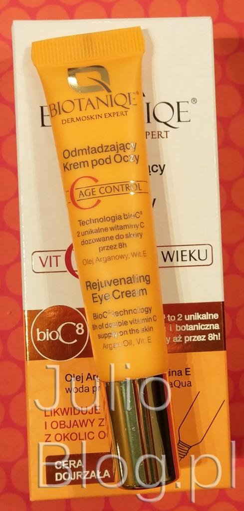 krem-pod-oczy-lewoskrętna-witamina-C-JulioBlog-blog-Julii-woda-probiotyczna-LACTOBACILLUS-Odmładzający-krem-pod-oczy-do-cery-dojrzałej-BIOTANIQE-C-AGE-CONTROL-opinie-oceny