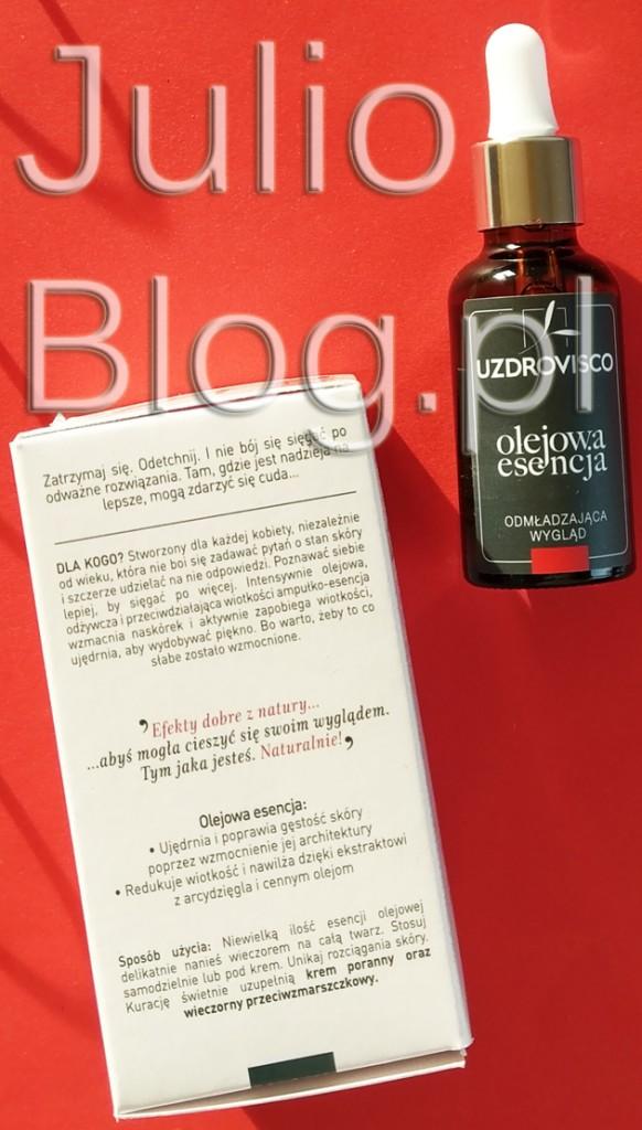 UZDROVISCO-Olejowa-esencja-odmładzająca-wygląd-mak-arcydzięgiel-olej-arganowy-kokosowy-buritti-oleje-ze-słodkich-migdałów-słonecznika-moreli-skwalan-opinia-recenzja-JulioBlog