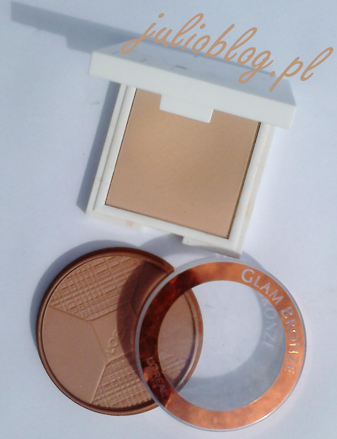 Mutliwitaminowy puder w kompakcie KORRES do skóry tłustej i mieszanej - Multivitamin Compact Powder For Oily to Combination Skin w odcieniu 52N oraz Puder brązujący GLAM BRONZE 5 TERRES. Puder brązujący Glam Bronze Les 5 Terres L`Oreal Paris. Odkryj 4 idealnie skomponowane odcienie dla każdej karnacji i złoty środek, który pozwala wymodelować rysy twarzy. Ultra gładka tekstura dla efektu drugiej skóry i łatwej aplikacji. Czyste pigmenty ochry dla naturalnego rozświetlenia cery.