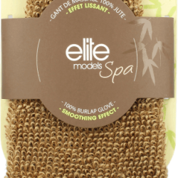 Rękawica do mycia Elite Models Spa Smoothing Effect Efekt Wysgładzający. W 100% wyprodukowana z łodyg roślin juty, zapewnia dokładne złuszczenie martwego naskórka oraz stymuluje odnowę komórkową. Dzięki niej skóra staje się jędrna i gładka. Rękawicy można używać pod prysznicem, a także na sucho, w celu uzyskania bardziej intensywnego efektu. Jest łatwa w utrzymaniu, nadaje się do prania w pralce w 30°C. Skład: 100 proc. juta