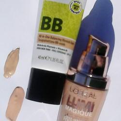 Krem Lumene Natural Code Multi BB, oraz Podkład rozświetlający L`Oreal Lumi Magique w odcieniu R/C/K2 – Rose Porcelain Obydwa odcienie są zbliżone, ale krem BB Lumene jest bardziej żółty. Krem Lumene Natural Code Multi BB. Jeśli zmagasz się z niedoskonałościami skóry mieszanej i tłustej, to koniecznie sprawdź krem Lumene Natural Code Multi BB. Kosmetyk ten wyrównuje koloryt twarzy niweluje powstające zaczerwienienia oraz matowi skóry, zapobiegając świeceniu. Dzięki wysoko napigmentowanej formule, krem przykrywa niedoskonałości oraz wypryski. W jego składzie znajdziesz wyciąg z nasion i liści arktycznej babki lancetowatej. Ponadto produkt zapewnia skórze ochronę UV. Jak przystało na Lumene, krem wolny jest od parabenów, siarczanów, silikonu i alkoholu etylowego. Ukryj wszelkie niedoskonałości! Kremi Lumene Natural Code Multi BB matowi skórę ukrywa wszelkie zaczerwienienia i niedoskonałości chroni przed promieniowaniem słonecznym zawiera cenne wyciągi z nasion i liści arktycznej babki lancetowatej krem wolny od parabenów, silikonów, siarczanów i alkoholu etylowego Sposób użycia: Stosuj na oczyszczoną i suchą skórę. Pojemność: 40ml Natural Code by Lumene Multi BB Krem Korygujący Niedoskonałości Cery 40ml Szybka korekta, wielofunkcyjność w celu gwarancji najlepszego efektu. Wyrównuje koloryt skóry, pomaga pokryć zaczerwienienia i zanieczyszczenia oraz utrzymuje matową powierzchnię skóry. Przykrywa niedoskonałości skóry dzięki wysoko pigmentowanej formule. Zawiera wyciąg z liści i nasion arktycznej babki lancetowatej. Faktor SPF 25 daj wysoką ochronę przed czynnikami zewnętrznymi i promieniowaniem UVA/UVB . Pozbawiony parabenów, siarczanów, silikonu, alkoholu etylowego. Idelane dla cery mieszanej i tłustej.