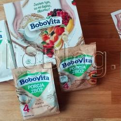 BoboVita bezmleczny i bezglutenowy kelik kukurydziano-ryżowy po 4 miesiącu (150g/3,99zł), BoboVita Porcja Zbóż Bezmleczna kaszka manna po 4 miesiącu (170g/6,99zł), BoboVita Porcja Zbóż Kaszka mleczna manna brzoskwinia – banan bez dodatku cukru po 4 miesiącu (210g/8,99zł). BoboVita bezmleczny i bezglutenowy kelik kukurydziano-ryżowy po 4 miesiącu (150g/3,99zł), BoboVita Porcja Zbóż Bezmleczna kaszka manna po 4 miesiącu (170g/6,99zł), BoboVita Porcja Zbóż Kaszka mleczna manna brzoskwinia – banan bez dodatku cukru po 4 miesiącu (210g/8,99zł). NUTRICIA. BoboVita Porcja Zbóż Bezmleczna kaszka manna po 4 miesiącu. BoboVita, Porcja Zbóż, bezmleczna kaszka manna, po 4. miesiącu, 170 g. BoboVita Porcja Zbóż manna, to produkt dla niemowląt i małych dzieci po 4. miesiącu życia przeznaczony do uzupełniania diety, której podstawą jest mleko kobiece lub modyfikowane. Powstaje z najwyższej jakości różnorodnych zbóż, także tych z pełnego przemiału. Nie zawiera dodatku cukru, a tylko naturalnie występujące cukry z mleka, owoców i zbóż. Została starannie skomponowana tka, by zawierał to, co dobre dla Twojego dziecka: zboża - kasza manna - ważny składnik zbilansowanego jadłospisu. Porcja Zbóż manna to idealna propozycja na początek rozszerzenia diety dziecka i wprowadzenia do niej glutenu. Zawiera Witaminę B1 (tiaminę)* dla prawidłowego metabolizmu energetycznego i układu nerwowego. Bez konserwantów, barwników i wzmacniaczy smaku*. Bez GMO (składników modyfikowanych genetycznie)**. Bez dodatku cukru. *zgodnie z przepisami prawa. **podobnie jak wszystkie inne produkty dla niemowląt i małych dzieci na rynku polskim. NUTRICIA. BoboVita Porcja Zbóż Bezmleczna kaszka manna po 4 miesiącu – skład: Kasza manna (z pszenicy) 99,9%, witamina B1 (tiamina). PRZYGOTOWANIE I STOSOWANIE Przestrzegaj instrukcji właściwego przygotowania. Zanim przystąpisz do przyrządzania posiłku dla dziecka, umyj dokładnie ręce i upewnij się, czy naczynia, których będziesz używać są czyste. 1. Przygotuj 200 ml mleka m