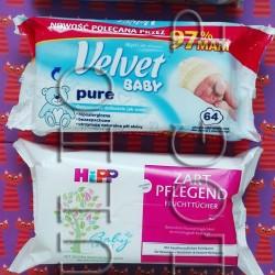 CHUSTECZKI NAWILŻANE HUGGIES PURE (168 sztuk w cenie 14,99zł), Chusteczki nawilżane dla dzieci i niemowląt Velvet Baby Pure (192 sztuki w cenie 13,99zł), NAWILŻANE CHUSTECZKI PIELĘGNACYJNE HiPP Babysanft (2X56 sztuk w cenie 13,99zł), Chusteczki dla niemowląt Pampers Sensitive (2×56 sztuk w cenie 14,99zł). CHUSTECZKI NAWILŻANE HUGGIES PURE (168 sztuk w cenie 14,99zł) Chusteczki nawilżane dla noworodków Huggies Pure czyszczą z delikatnością bawełny i czystej wody. CHUSTECZKI NAWILŻANE HUGGIES PURE – skład – INCI: Aqua, Caprylyl Glycol, Sodium Benzoate, Coco-Betaine, Polysorbate 20, Malic Acid, Sodium Citrate, 65% masa celulozowa. Chusteczki-nawilżane-dla-noworodków-Huggies-Pure-skład-INCI-Aqua,-Caprylyl-Glycol,-Sodium-Benzoate-Coco-Betaine-Polysorbate-20-Malic-Acid-Sodium-Citrate-nawilżane-chusteczki-niemowląt CHUSTECZKI NAWILŻANE HUGGIES PURE (168 sztuk w cenie 14,99zł). Chusteczki nawilżane dla dzieci i niemowląt Velvet Baby Pure (192 sztuki w cenie 13,99zł) Velvet Baby Pure nawilżane chusteczki dla delikatnej skóry dzieci i niemowląt. Wyjątkowo miękkie i grube chusteczki wzbogacone w naturalny wyciąg z aloesu. Łagodnie i skutecznie oczyszczają skórę dziecka pozostawiając ją świeżą i miłą w dotyku. Doskonałe do stosowania podczas zmiany pieluszki. Działają ochronnie i kojąco na podrażnienia. Nie zawierają substancji z grupy PEG, parabenów, alkoholu, phenoxyethanolu, sztucznych olejów i silikonów. Chusteczki nawilżane dla dzieci i niemowląt Velvet Baby Pure – skład – INCI: Aqua, Cocamidopropyl Betainę, Potassium Sorbate, Sodium Benzoate, Sodium Cocoyl Apple Amino Acids, Aloe Barbadensis Leaf Juice, Glycerin, Lactic Acid. Chusteczki-nawilżane-dla-dzieci-niemowląt-Velvet-Baby-Pure-Aqua,-Cocamidopropyl-Betainę-Potassium-Sorbate-Sodium-Benzoate--Sodium-Cocoyl-Apple-Amino-Acids-Aloe-Barbadensis-Leaf Chusteczki nawilżane dla dzieci i niemowląt Velvet Baby Pure (192 sztuki w cenie 13,99zł). NAWILŻANE CHUSTECZKI PIELĘGNACYJNE HiPP Babysanft (2X56 sztuk w cenie 13,99zł) Chust